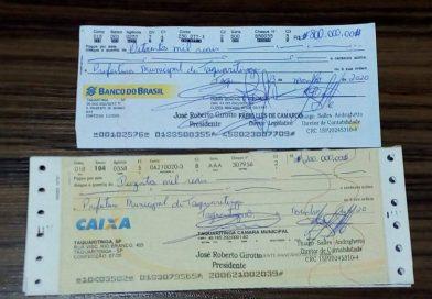Em Taquaritinga (SP): Câmara transfere R$ 1 milhão para a Prefeitura