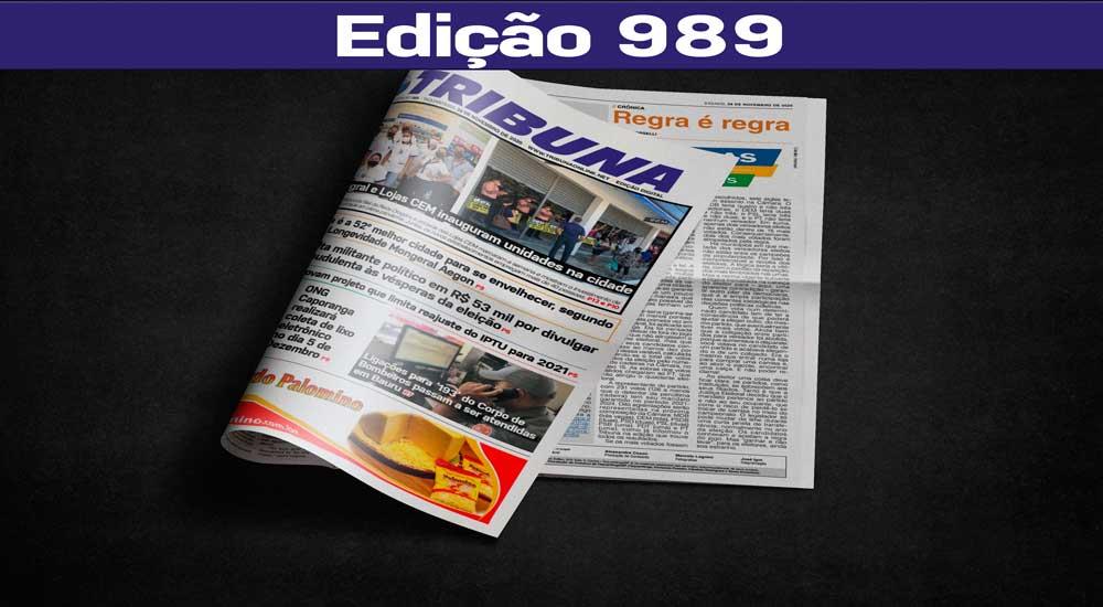 Leia o Jornal Tribuna de 28 de Novembro de 2020 – Edição 989