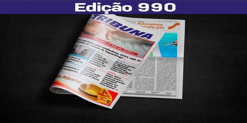 Leia o Jornal Tribuna de 5 de Dezembro de 2020 – Edição 990