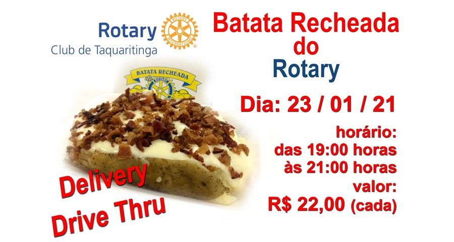 Rotary Club de Taquaritinga (SP) promove batata recheada 'drive-thru' neste sábado