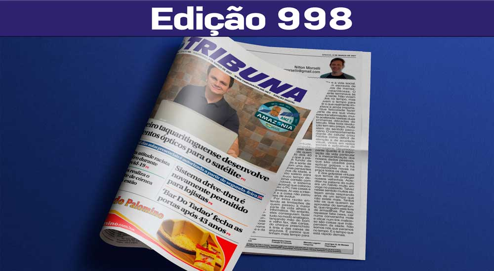 Leia o Jornal Tribuna de 06 de Março de 2021 – Edição 998