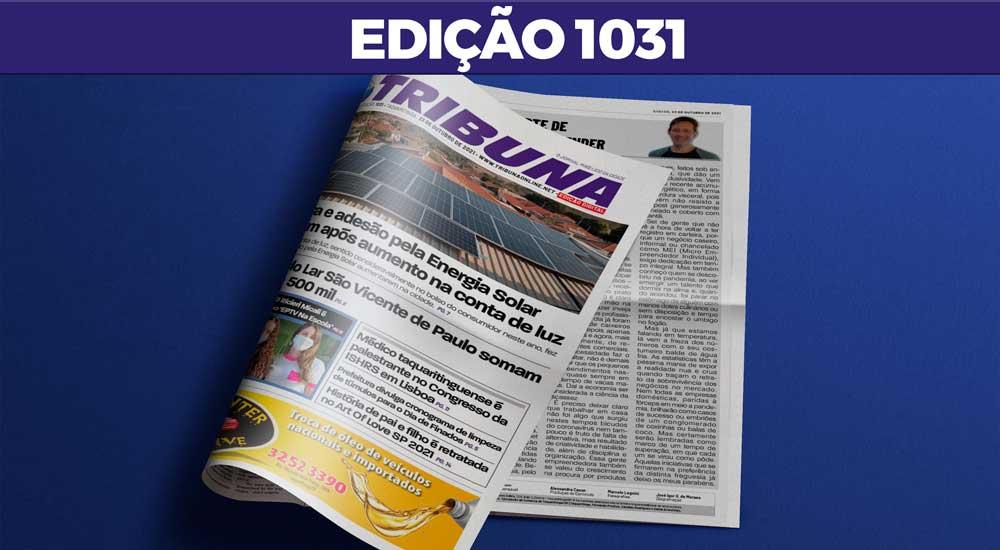 Leia o Jornal Tribuna de 23 de Outubro de 2021 – Edição 1031